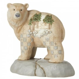 White Woodland Bear H14cm  Wild and Free Jim Shore 6006582