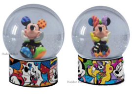 Mickey & Minnie Set van 2 Waterbal H13cm Disney by Britto