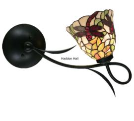 5940 Wandlamp B40cm met Tiffany kap Ø20cm Dragonfly Vermella