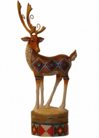 """Holiday Cheer "" Lodge Reindeer Prancing H25cm JIM SHORE 4024283"