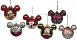 Set van 6 Disney Kertballen Ø6cm - Glas
