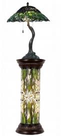 5386 5539 Zuil en Tafellamp Tiffany H136cm Ø47cm Greenleaf