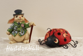 Mini Figurines - Set van 2 - Rabbit  & Ladybug - Jim Shore