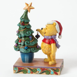 "WINNIE THE POOH ""Trim The Tree With Me"" H18cm Jim Shore 4039045"