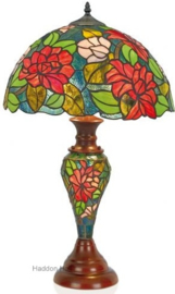 KT164Tafellamp Tiffany H67cm Ø40cm met verlichting in de voet Dalia