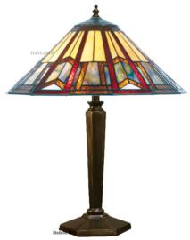 LPC02 Tafellamp Brons H55cm met Tiffany kap Ø39cm Toren