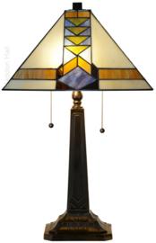 7855 Tafellamp Tiffany H60cm 37x37cm Pyramide