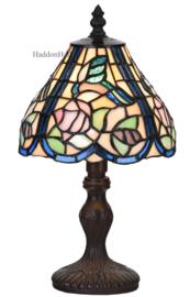 6160 Tafellamp Tiffany H32cm Ø18cm Blue Bird