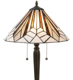 5897 Vloerlamp H160cm met Tiffany kap Ø40cm Astoria Brown