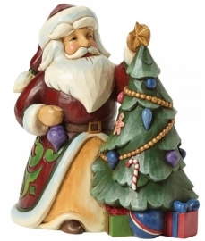 """Trimmed In Tradition"" H 16cm Jim Shore  4044069 Santa Kerstman uit 2014"