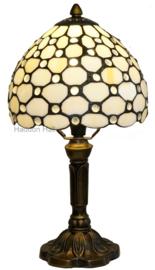5879 Tafellamp Tiffany H37cm Ø20cm Creme Pearl