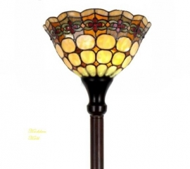 8828 Vloerlamp H175cm met Tiffany kap Ø26cm Victoria