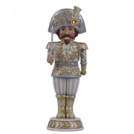 Silver-Gold Nutcracker Defender Of Festivities  - H26cm Jim Shore 6006616