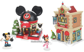 Mickey & Minnie -Set van 4 - Disney Village by D56