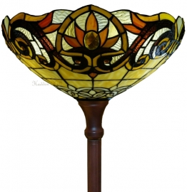 5777 Vloerlamp H180cm met Tiffany kap Ø40cm Pendragon