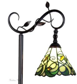 T09520 5786 Vloerlamp H153cm met Tiffany kap Ø20cm Jamelia