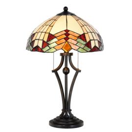 5961 Tafellamp Tiffany H60cm Ø40cm Stricta