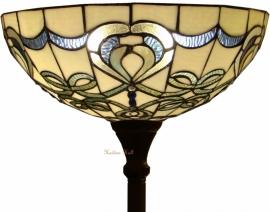 9272G Vloerlamp H184cm met Tiffany kap Ø50cm Blueribbon