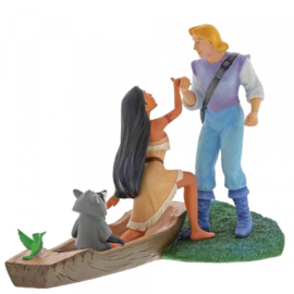 "Pocahontas ""Hear with the Heart"" H17cm B21cm Enchanting Disney A27297"