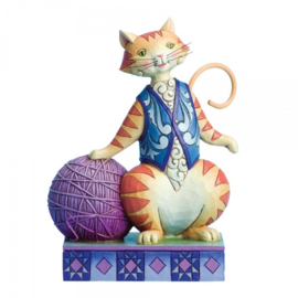 """Having a Ball"" H16cm Jim Shore cat"