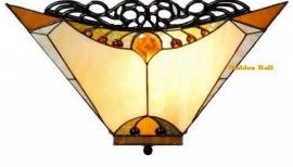 5595 80  Plafonniere Tiffany 44x44cm  Amber