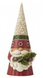 Christmas Gnome Holding Holly H16cm Jim Shore 6009180