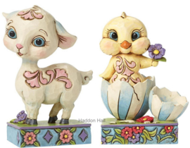 Mini Lamb & Mini Chick Set van 2 H8,5 Jim Shore