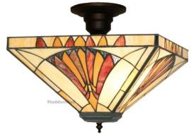 CT10273 Plafonniere Tiffany 36x36cm Art Deco Sun 3xE27