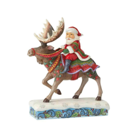 Santa Riding Moose H23cm Jim Shore 6004133