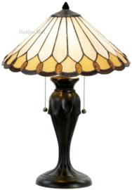 5988 Tafellamp Bruin met  Tiffany kap Ø40cm Klasika