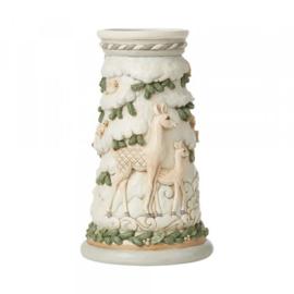 White Woodland Deer Candle Holder H24cm Jim Shore 6008871