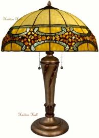5710 Tafellamp Tiffany met Stenen H58cm Ø51cm Riaad