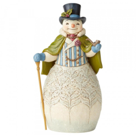 "Victorian Snowman H23,5cm ""Dapper December"" jim Shore 6004183"