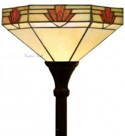 "TM16S Vloerlamp Tiffany H180cm met kap Ø30cm ""Nevada"" Uplicht"