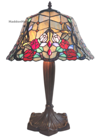 6072 Tafellamp Tiffany H58cm Ø42cm Hummingbirds
