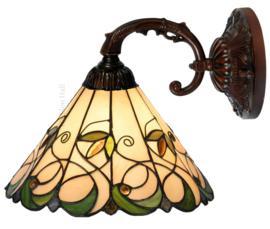 "T095S-8829 Wandlamp met Tiffany kap Ø30cm ""Jamelia"""