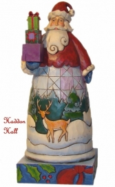 """Holiday Gifts"" Santa with gifts H18cm Jim Shore Kerstman uit 2008"