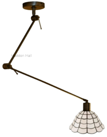 5935  Hanglamp Verstelbaar Draaibar met Tiffany kap Ø25cm Art Deco Paris
