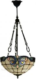 5807 FCL Hanglamp Tiffany Ø40cm Lila Rose en Blauw