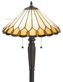 5988 Vloerlamp Zwart met Tiffany kap Ø40cm Klasika