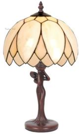 5135 Tafellamp Jugendstil H45cm met Tiffany kap Ø26cm Lelie