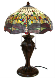 5850 Tafellamp Tiffany H58cm Ø40cm Dragonfly  Multicolor