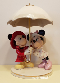 "Mickey & Minnie ""Singing in the Rain"" Disney by Lenox 826878"