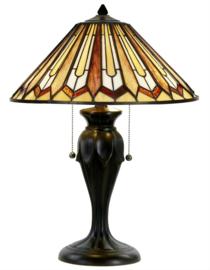 COT12 Tafellamp Tiffany H60cm Ø41cm Eldingar