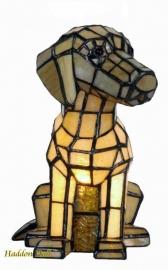 """7803 Tiffany lamp H26cm  """"Hond"""""""