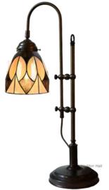 8118 Bureaulamp Tiffany Verstelbaar H45-55cm Parabola