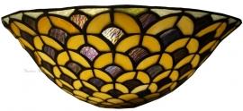 5664 Wandlamp Tiffany B30cm Schelpmodel