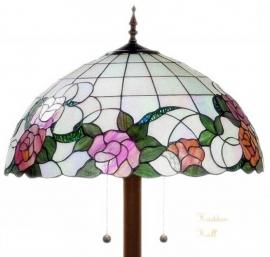 9280-9454  Vloerlamp met Tiffany kap Ø50cm Alba Ronde voet