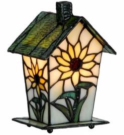 969 Tiffany lamp H20cm Vogelhuisje  Zonnebloem