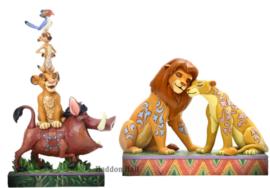 Lion King Stacking Figurine - Simba en Nala - Set van 2 Jim Shore beelden